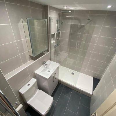 bathroom in bearsden