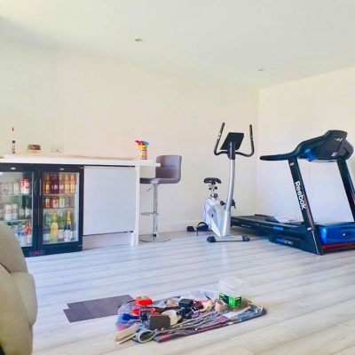 garage converted into gym